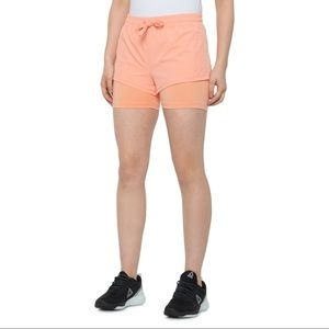 NWT Spyder Stretch Active Orange Lined Shorts